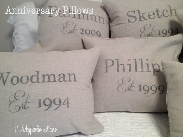 Anniversary Pillow Tutorial–Perfect for Valentine's Day!