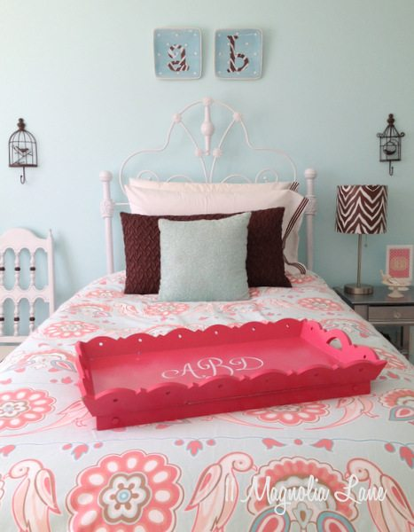 My Daughter's Room–Updated {Yes, Again!} in Aqua Blue, Brown, and Pink