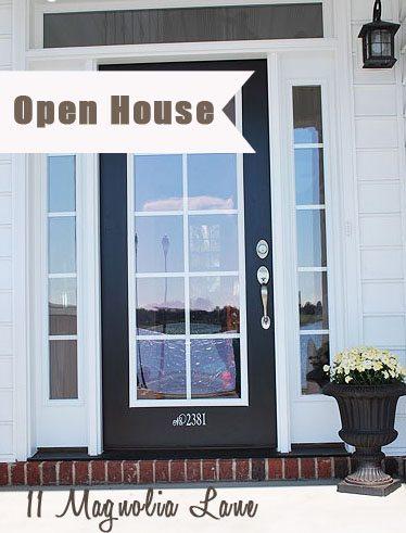 front door open house