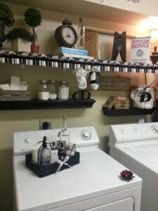 Reader Feature:  Deborah's Black & White Laundry Room Redo