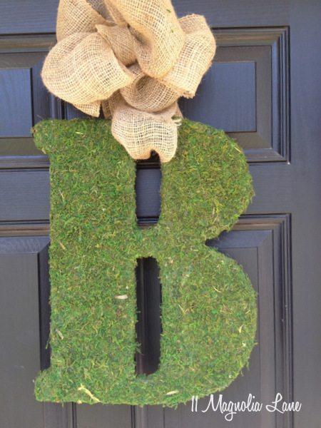 DIY Moss Covered Letter Tutorial | 11 Magnolia Lane