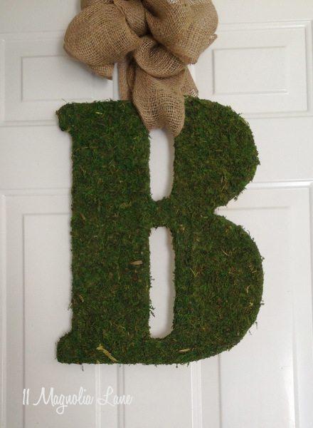Diy Moss Covered Letter Tutorial 11 Magnolia Lane