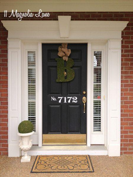 Pretty front door at 11 Magnolia Lane