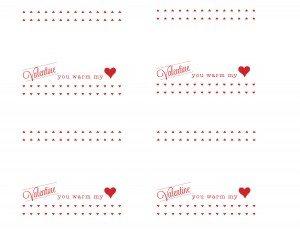 You Warm my Heart Valentine Printable