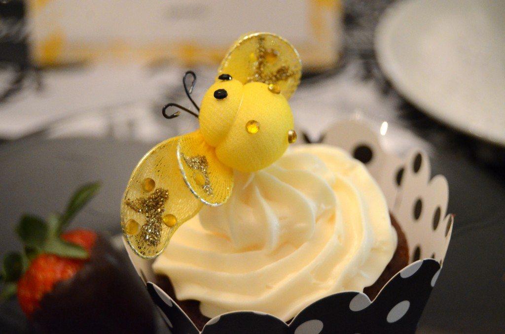 black yellow queen bee baby shower