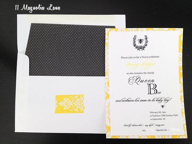 queen bee invitation
