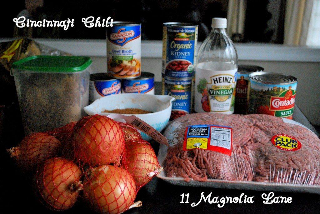 Cincinnati Chili Ingrediants