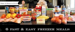 In The Kitchen: 6 Fast and Delicous Freezer Meals