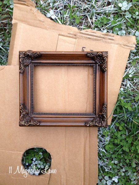 Thrift store frame--before