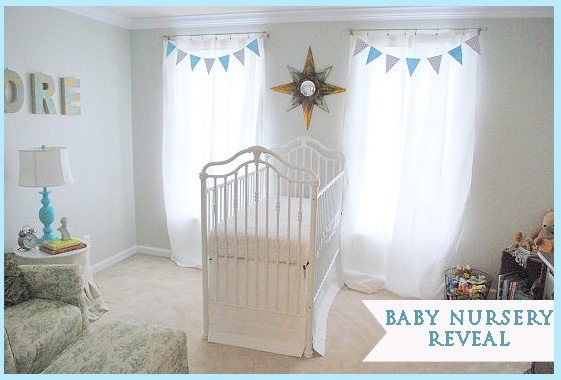 baby nursery reveal flag