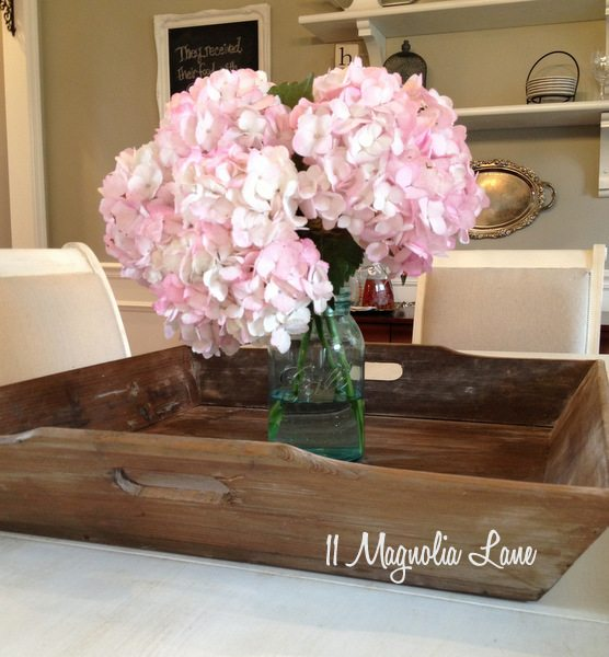 Barnwood tray at 11 Magnolia Lane