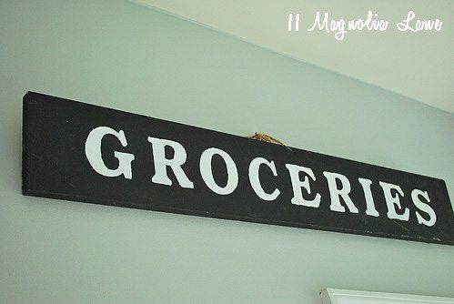 DIy vintage sign