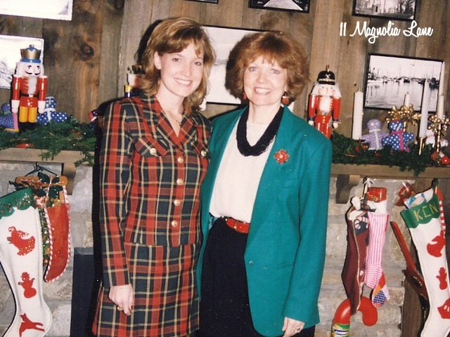 Christmas 1995. Plaid was a good idea back then.