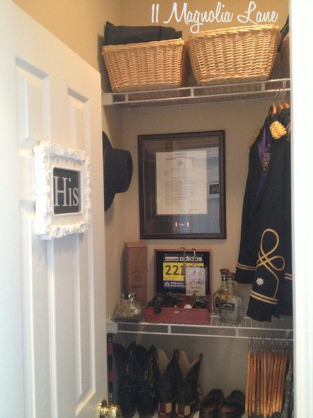 Men's closet at 11 Magnolia Lane