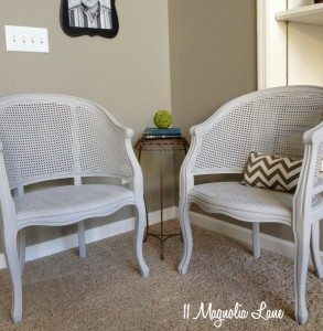 Cane Chair Update With Gray Chalk Paint