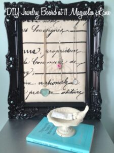 DIY Fabric-Covered Jewelry Display Board