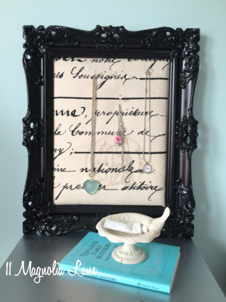 Paris themed jewelry display board
