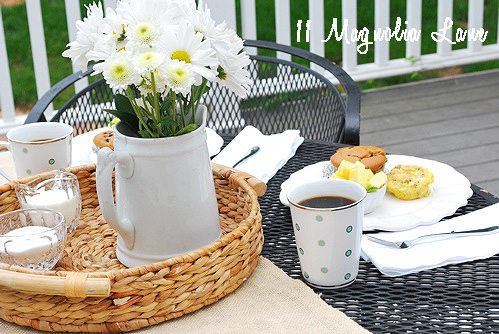 flowers and breakfast