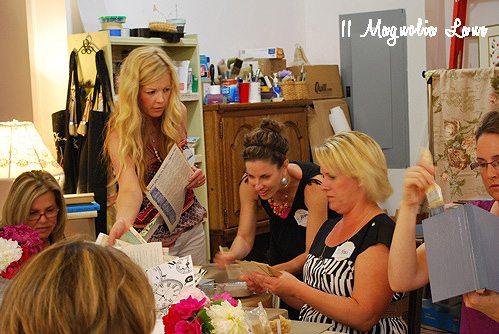 girls working