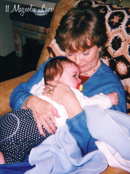 2001--her first grandbaby, and the only one she got to meet
