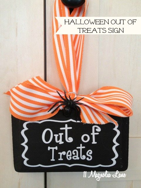 Halloween Must-Have:  Out of Treats Door Sign