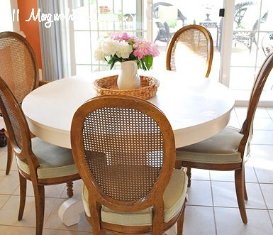 table with chairs in kitchen