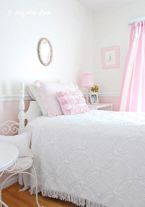white room and bed