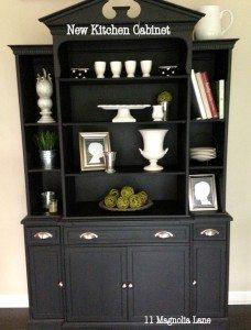 Flea Market Find:  Milk Painted Kitchen Cabinet