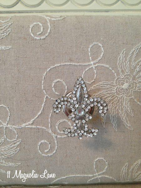 Fabric-covered dresser at 11 Magnolia Lane
