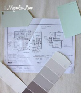 Paint Color Selections for Our New House