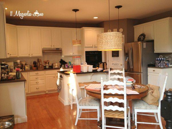 Messy kitchen at 11 Magnolia Lane