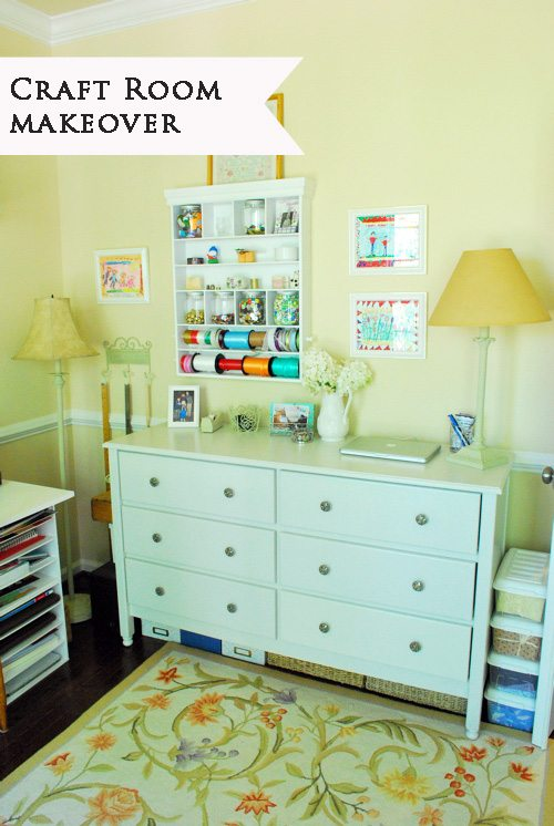 A Pretty And Organized Craft Room With Smart Storage Solutions 11
