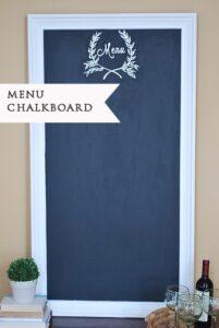 Large Painted 'Menu' Chalkboard {& a Sneak Peek}