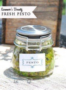 Summer's Bounty~Fresh Basil Pesto