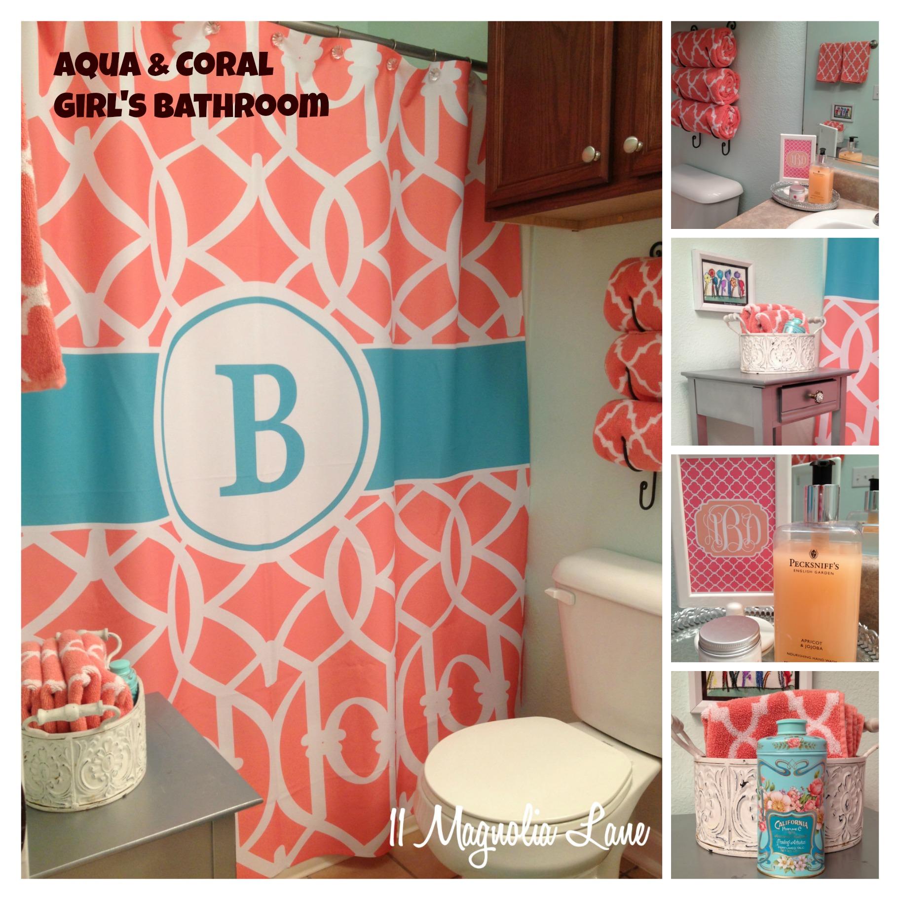 Aqua C Bathroom Monogram