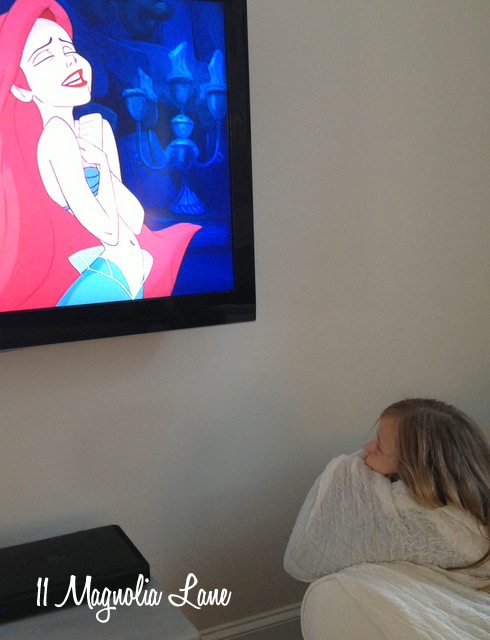watching the Little Mermaid