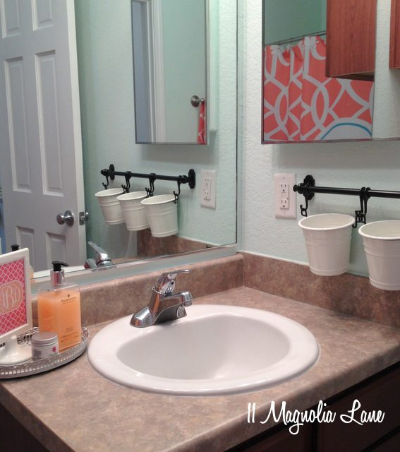 coral aqua bathroom sink