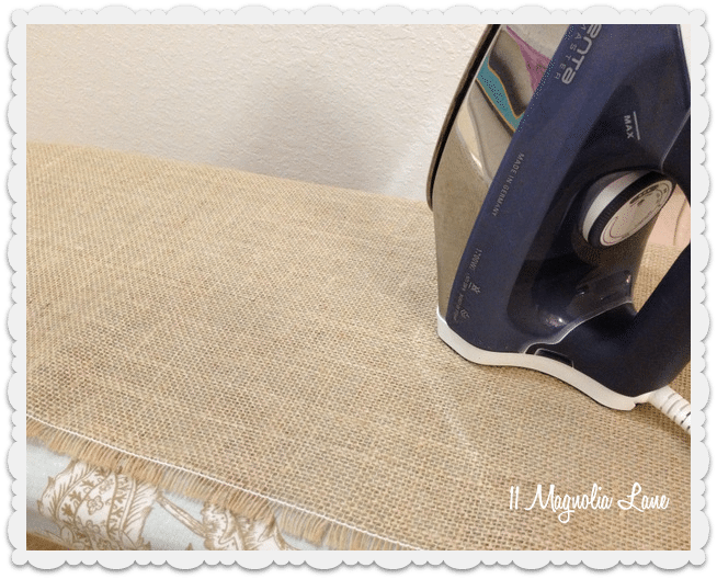 burlap DIY window valances