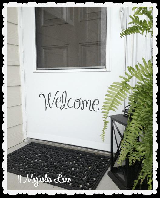 vinyl welcome front door