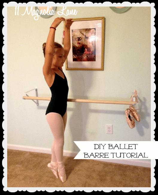 DIY ballet barre tutorial