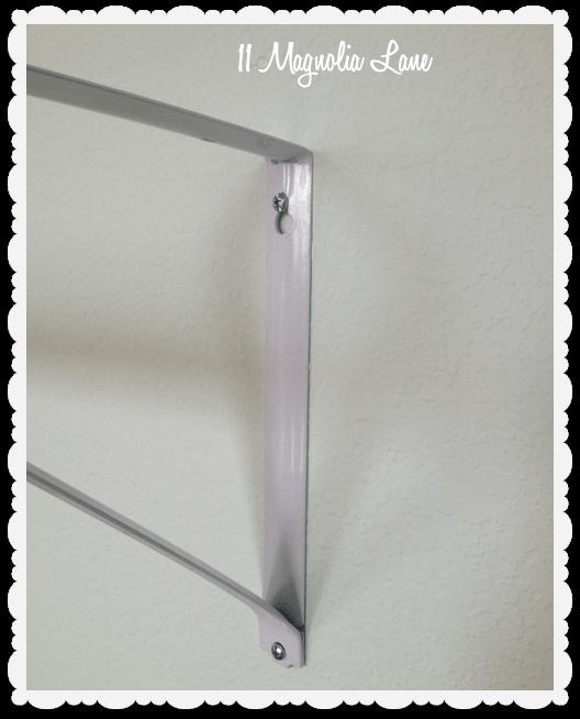 closet brackets DIY ballet barre