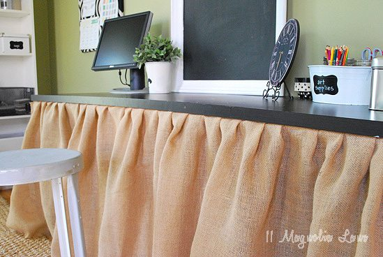 burlap skirted table 1