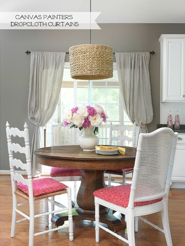 canvas painters dropcloth curtains