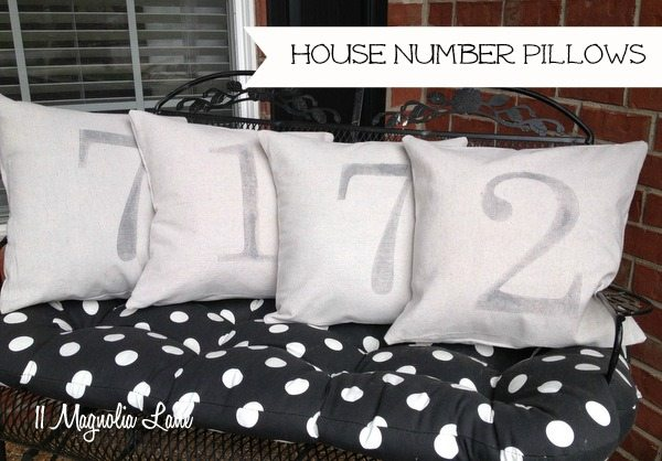 house number pillow painters drop cloths citrasolv
