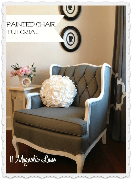 How To Paint Upholstery Fabric And Completely Transform A Piece Of Furniture.  This Painted Chair