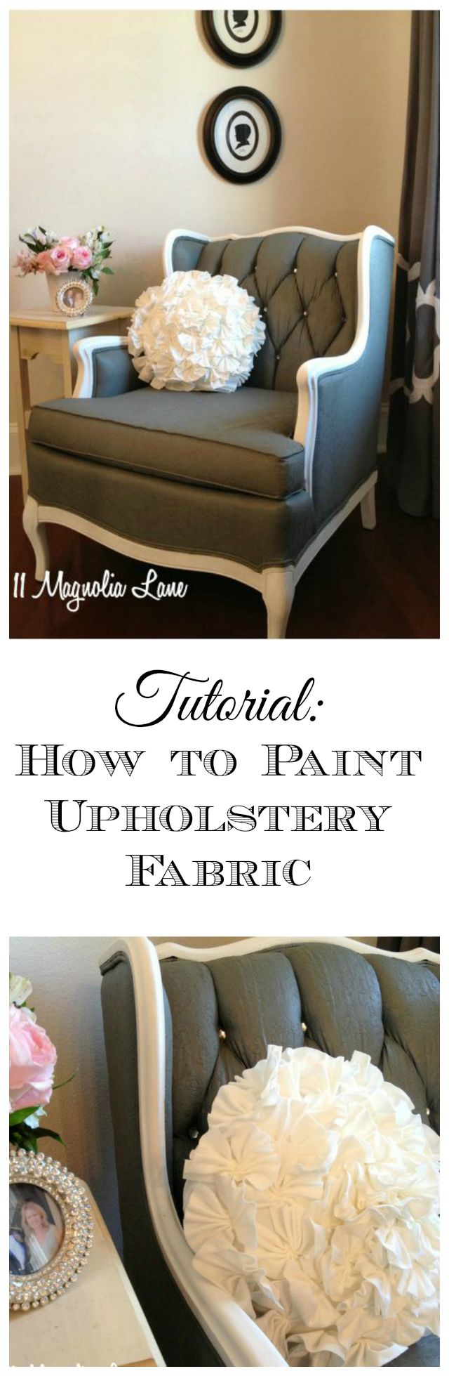 Tutorial: How to Paint Upholstery Fabric and Completely Transform a ...
