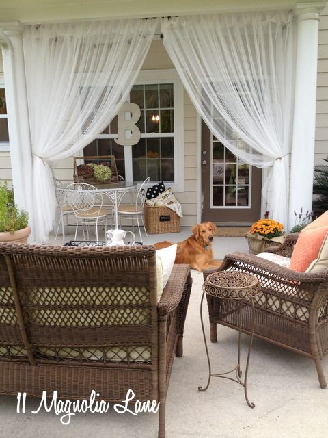 porch wicker sheers