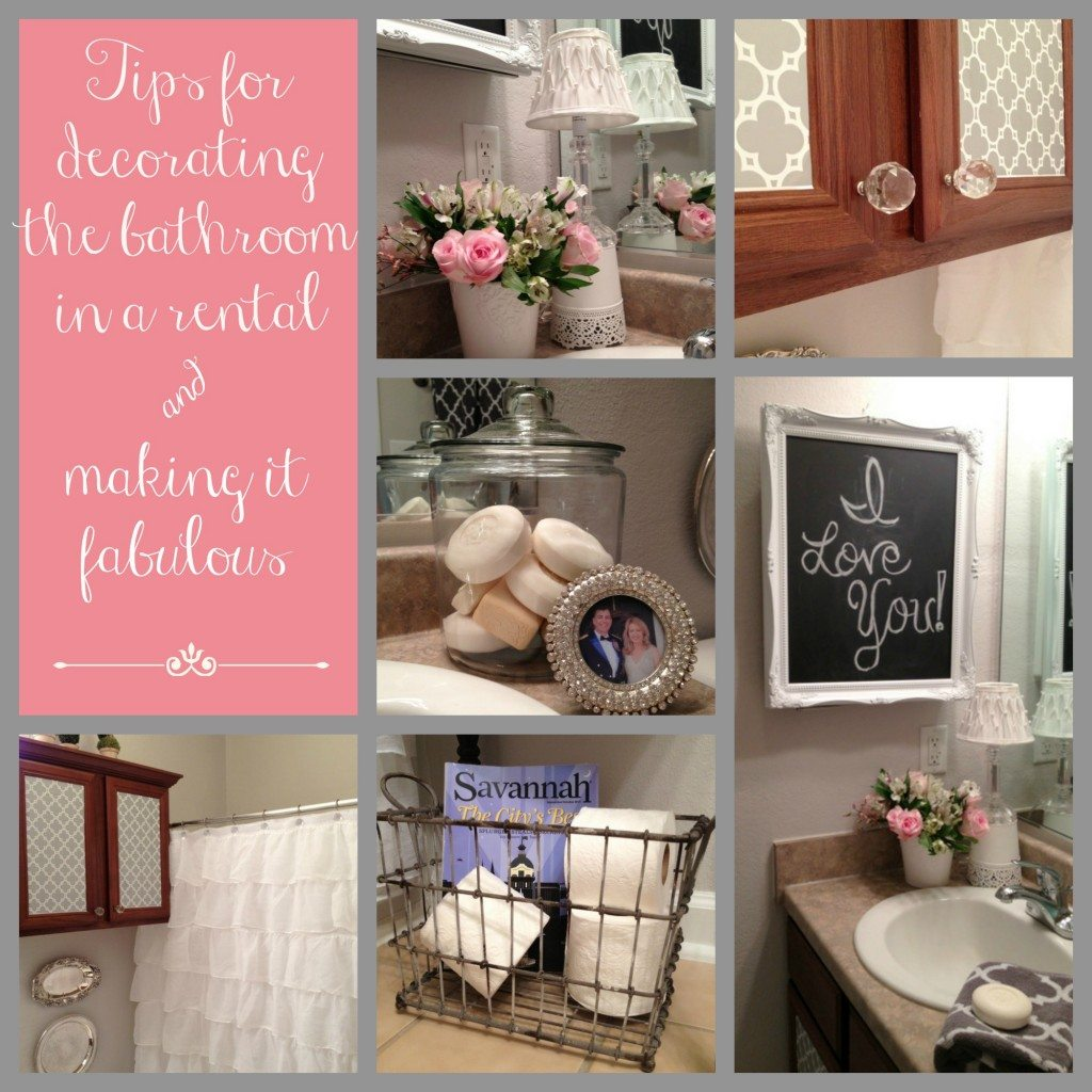 bathroom decorating ideas pin collage