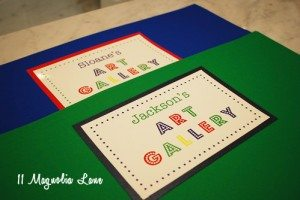 Kids' Artwork Organization {Organizing Life}