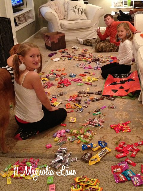 counting Halloween candy